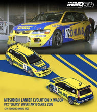 Lade das Bild in den Galerie-Viewer, INNO64 1:64 Mitsubishi Lancer Evolution IX Wagon #12 Ohlins - Little Luca's Toys