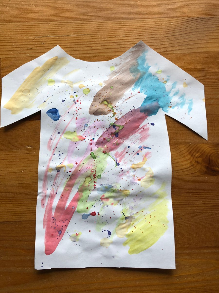 Holi shirt STEAM craft