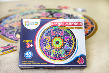 Load image into Gallery viewer, Rangoli Mandala Circular Floor Puzzle