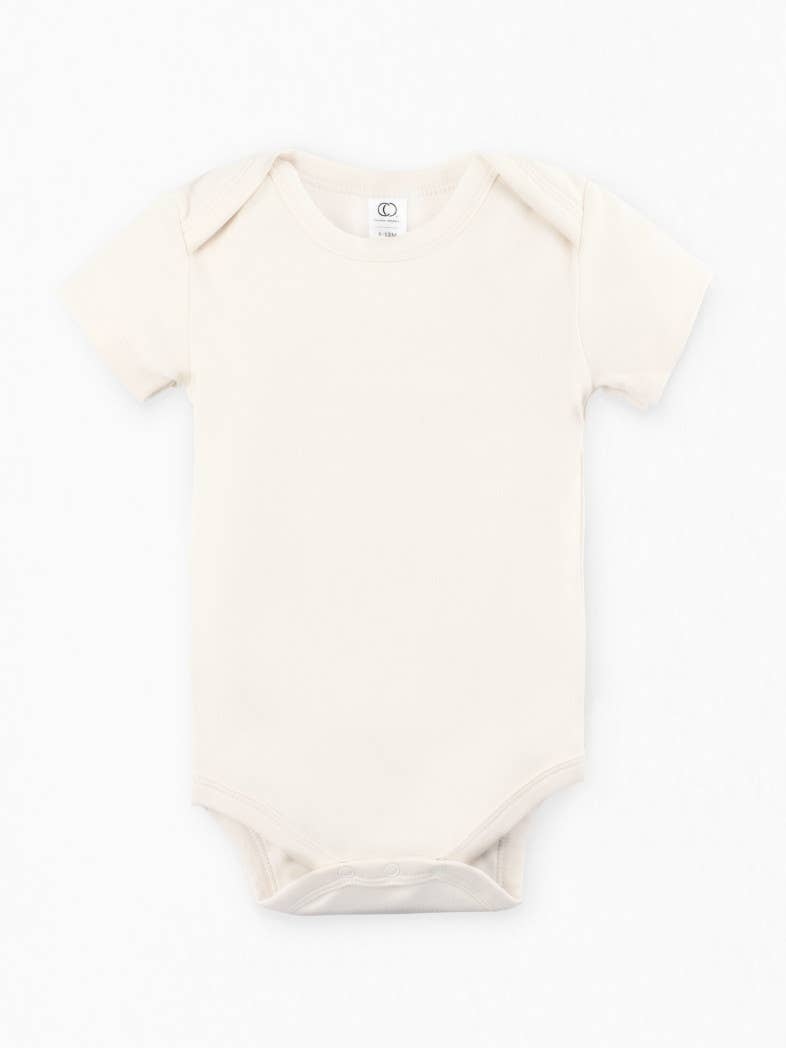 Short Sleeve Classic Bodysuit - Natural