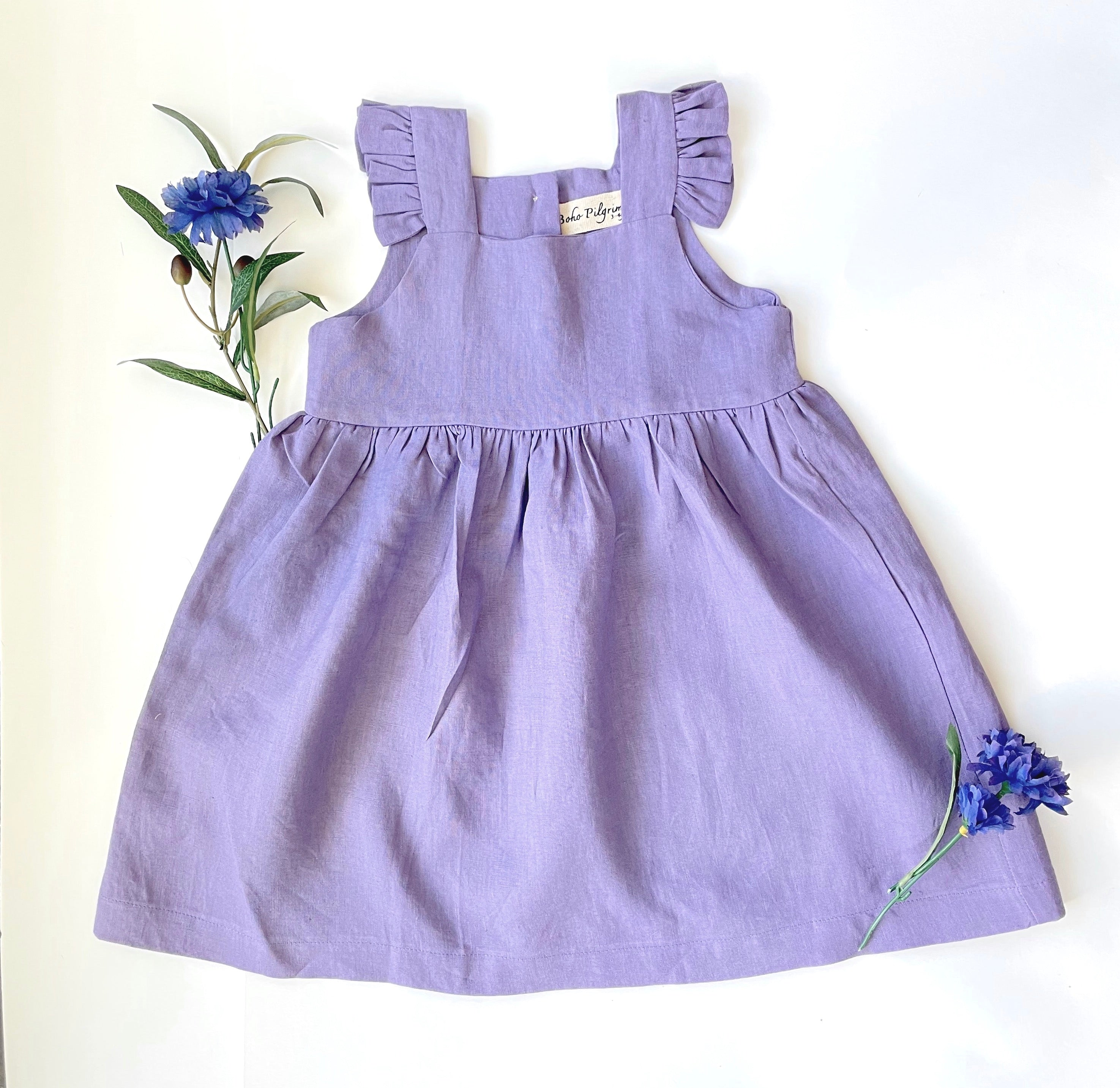 Lavender Linen Dress