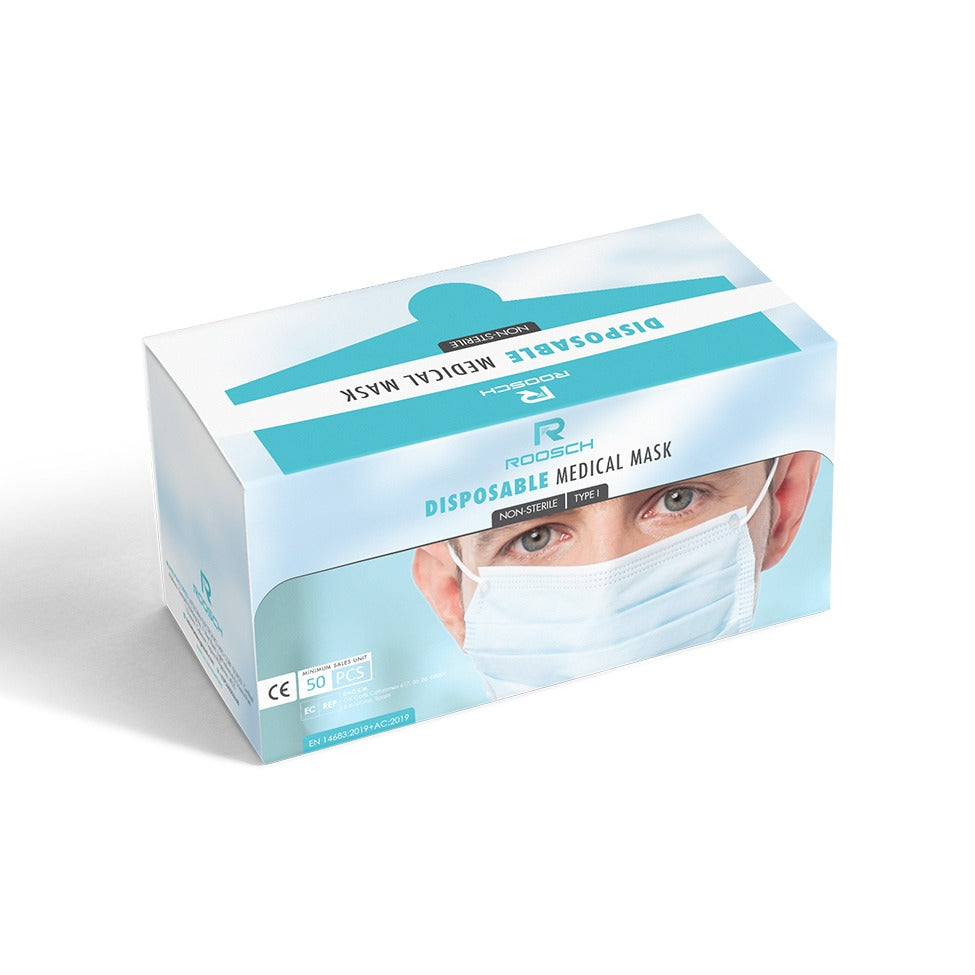 ROOSCH Disposable Medical Mask Non-Sterile Type I BFE ≥ 95% (50s)