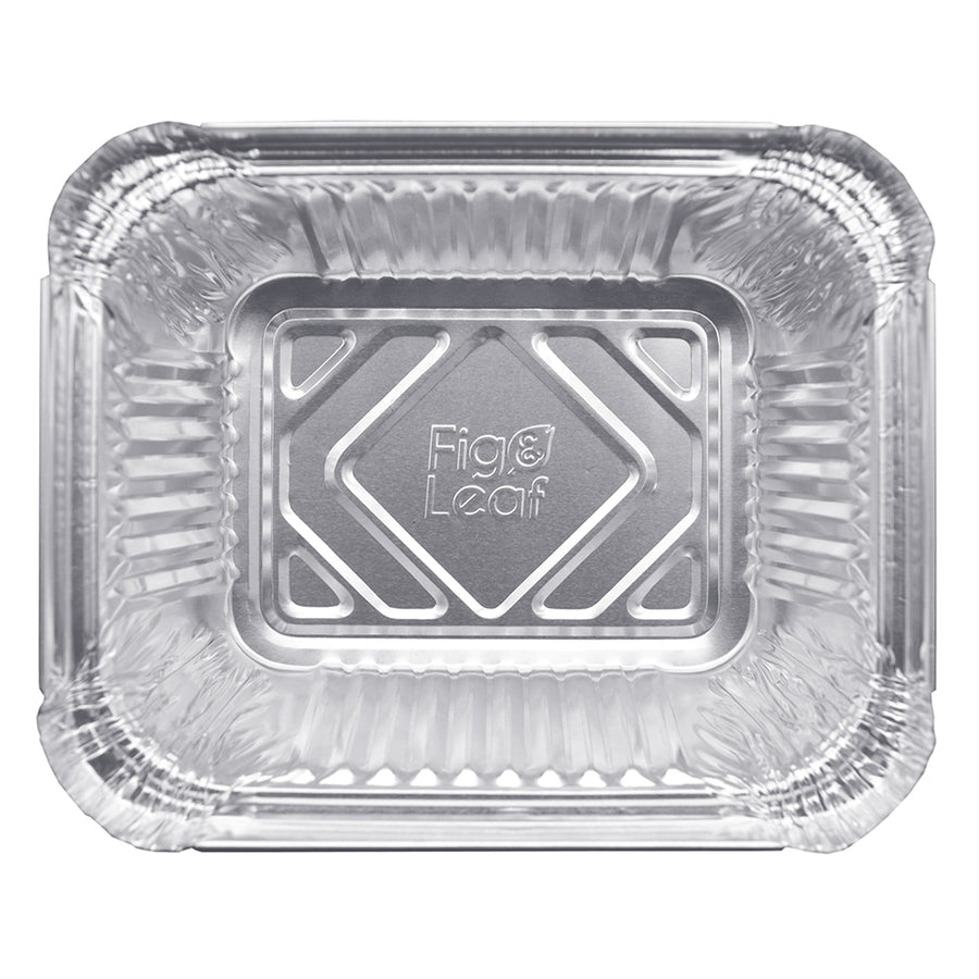 1-LB Takeout Pans with Plastic Dome Lids l Small 5.6