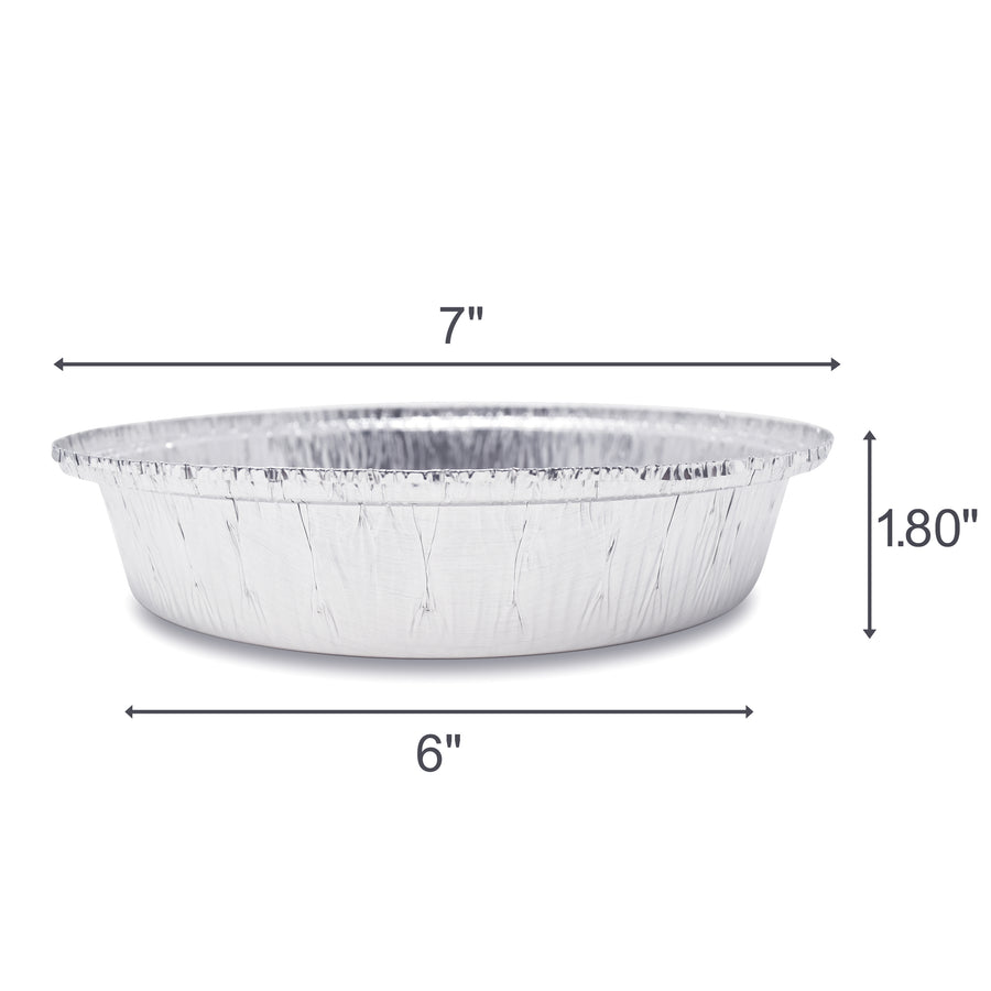 7-Inch Round Pans with Plastic Dome Lids - Fig & Leaf