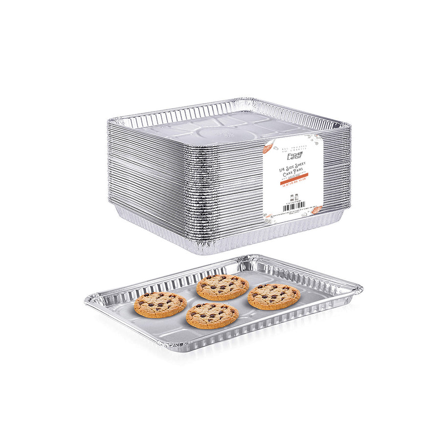 "1/4 Size Cookie Sheet Baking Cake Pans l 12.8"" x 8.9"""