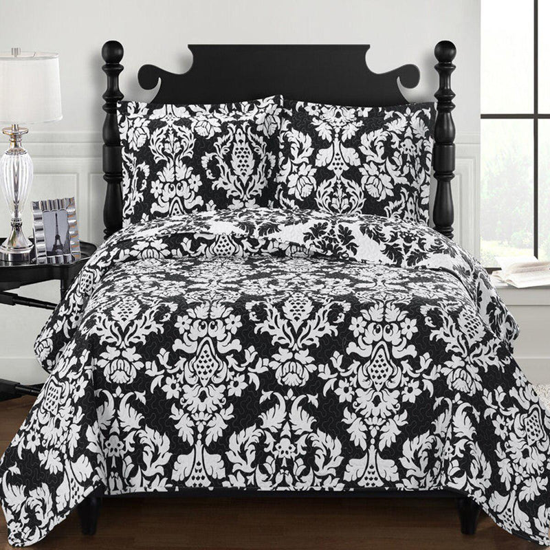 Catherine Oversized King Quilts or Queen Size Reversible Hypoallergenic Quilt Set-Wholesale Beddings