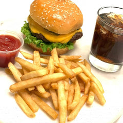 Beef Burger & Fries