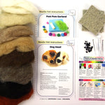 The Makerss | Needlefelting | Beginners Bundle - 'Dog Head' | AAA Show Kit
