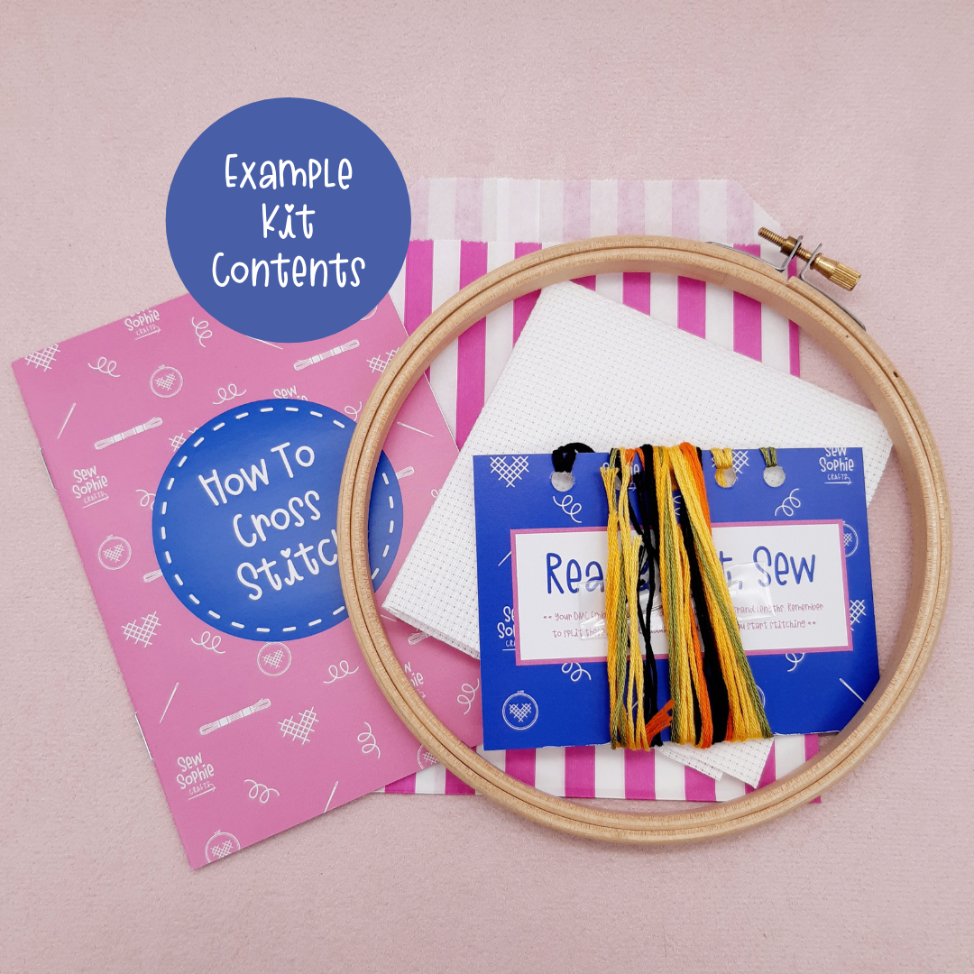 "Sew Sophie Crafts | ""Create Your Own Calm"" Cross Stitch Kit 