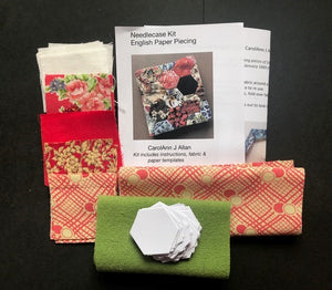 CarolAnn J Allan | English Paper Piecing Needlecase Kit | Craftfulness Festival Show Kit