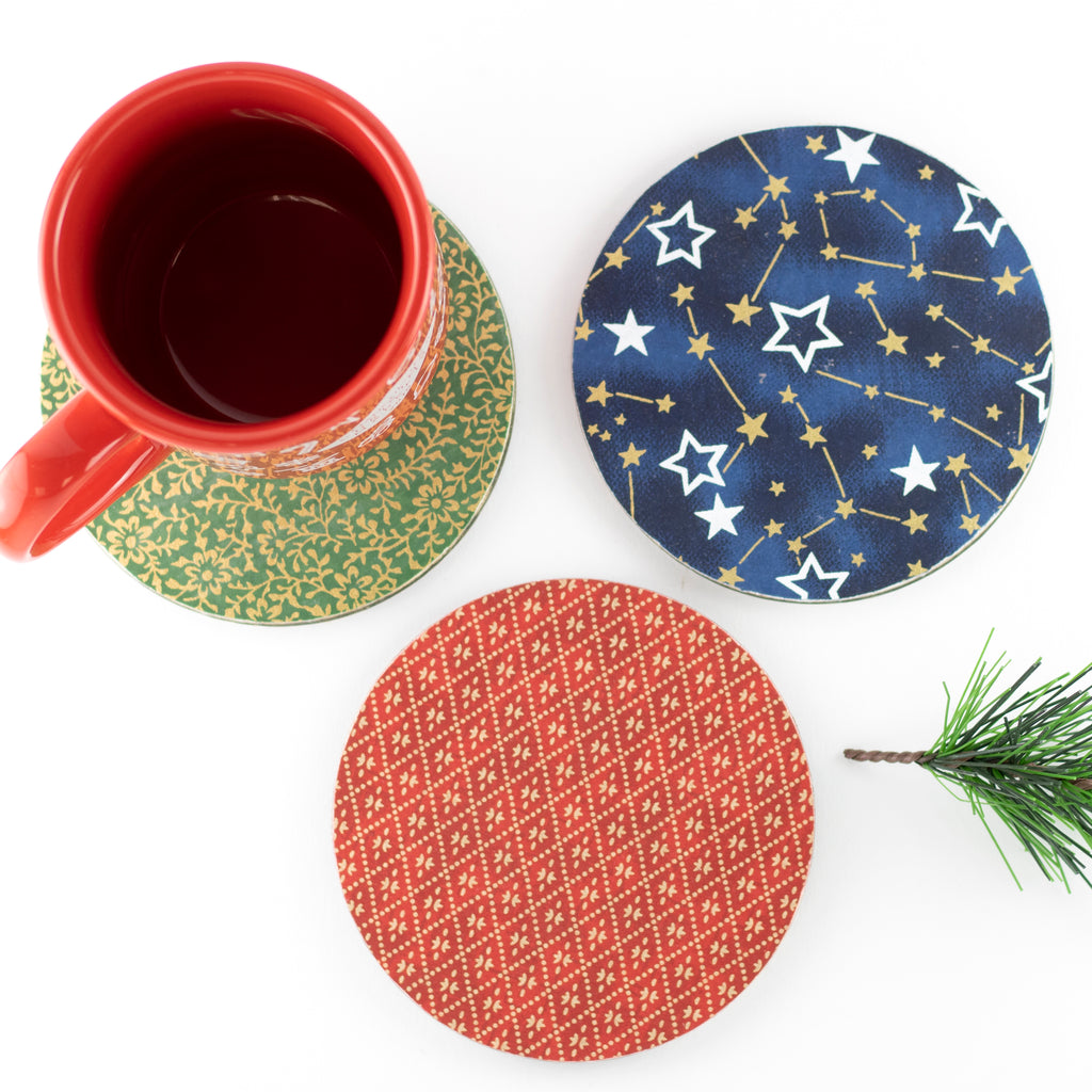Artcuts | Chiyogami Paper Coaster Set | Christmas 2020 AAA Show Kit