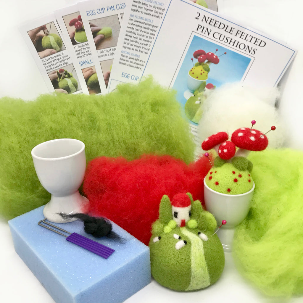Woolly Felters | Needle Felted Pincushion Workshop Kit | 2021 AAA Spring Show Kit