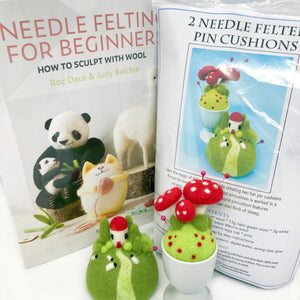 Woolly Felters | Needle Felted Pincushion Workshop Kit & Beginners Book | 2021 AAA Spring Show Kit
