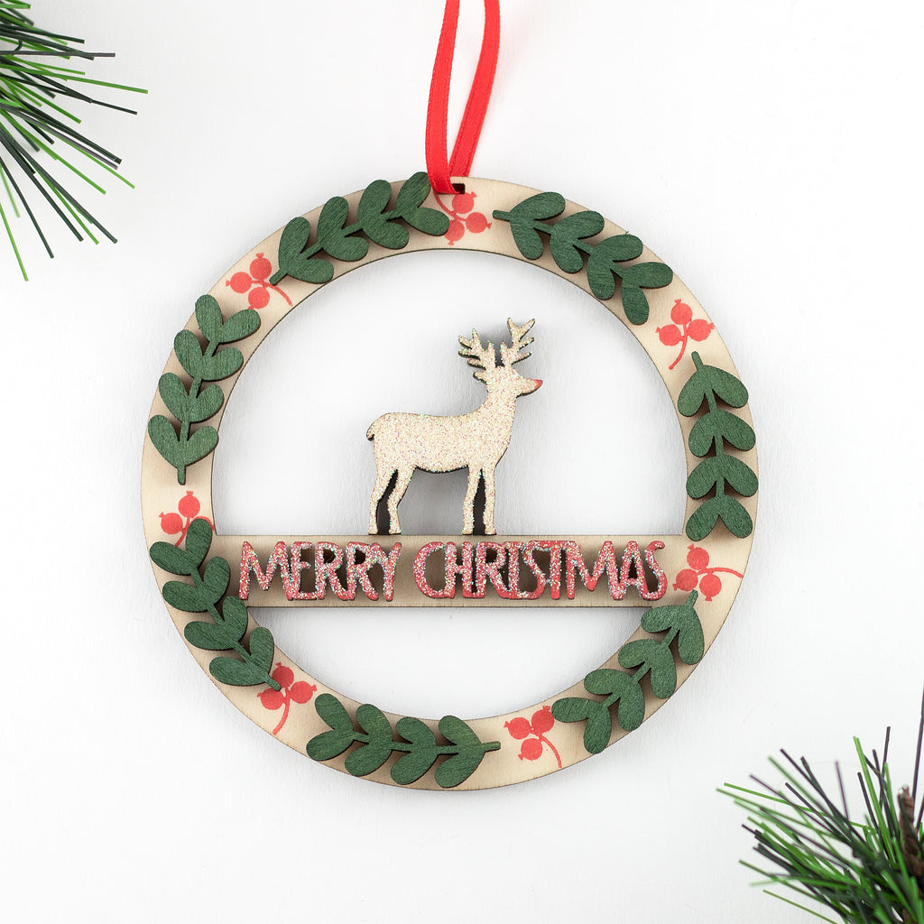 Artcuts | Christmas Crafting Wooden Wreath Kit | Christmas 2020 AAA Show Kit