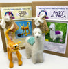 Woolly Felters | Cool Cat Needle Felting Kit plus Andy Alpaca Needle Felting Kit | 2021 AAA Spring Show Kit