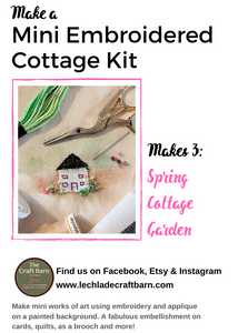 Lechlade Craft Barn | Mini Spring Cottage Garden Embroidery Kit | 2021 AAA Spring Show Kit