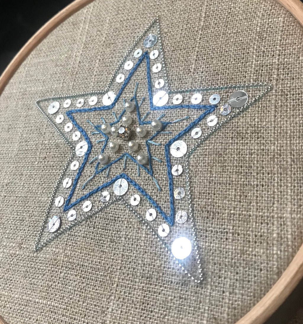 Helen McCook | Starry Night Hand Embroidery