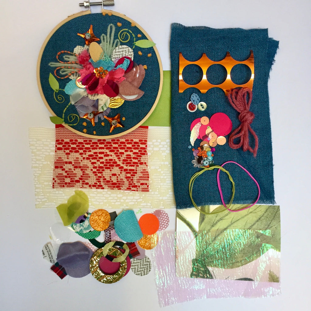 Jessica Grady | Stitched Summer Blooms Embellishment Kit | Craftfulness Festival Show Kit