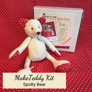 teddyand.me | MakeTeddy Kit | Spotty Bear