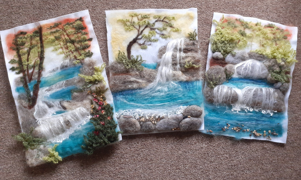 Joan Prowse | 2D/3D Living Waterscapes Needlefelting Kit | Craftfulness Festival Show Kit