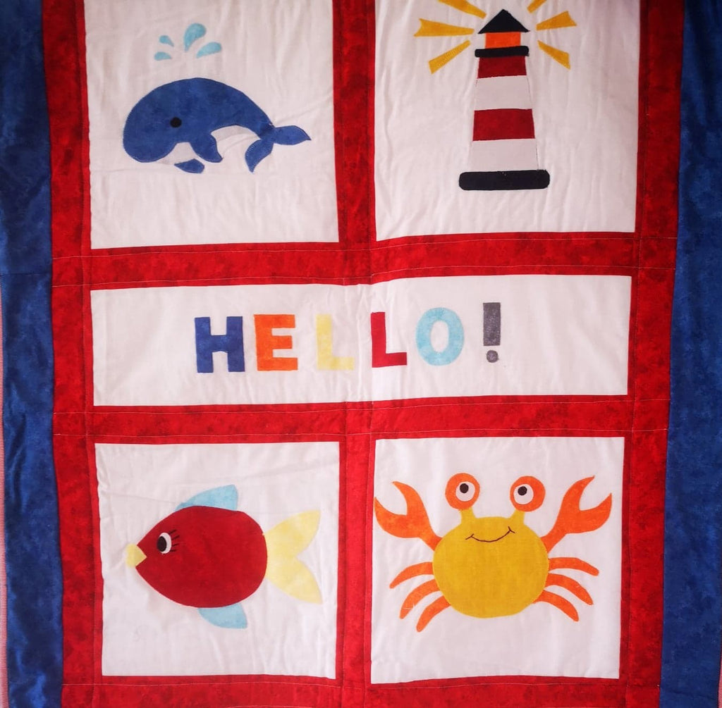 White Gecko | Baby Applique Kit (cute / nautical / transport)