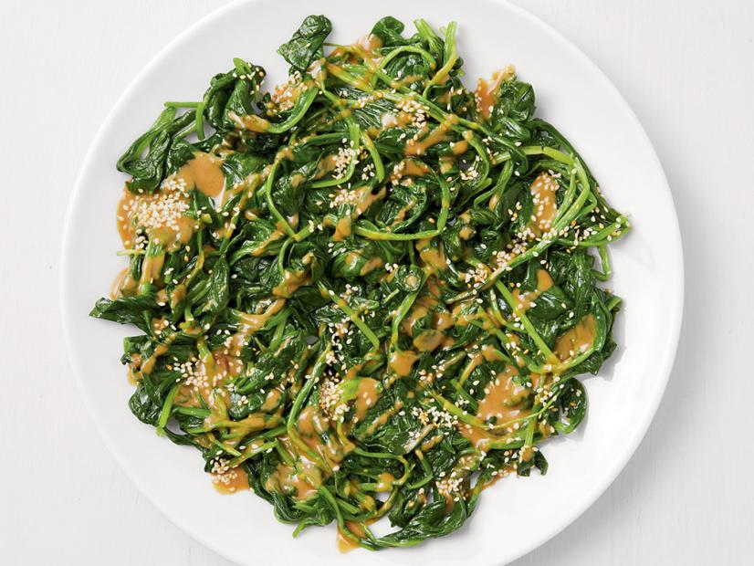 Spinach with Tahini Sauce