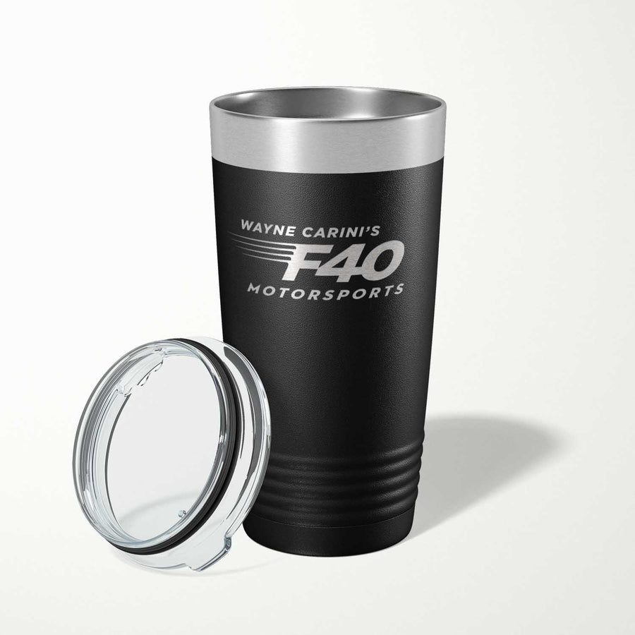 F40 Motorsports Insulated Stainless Tumbler