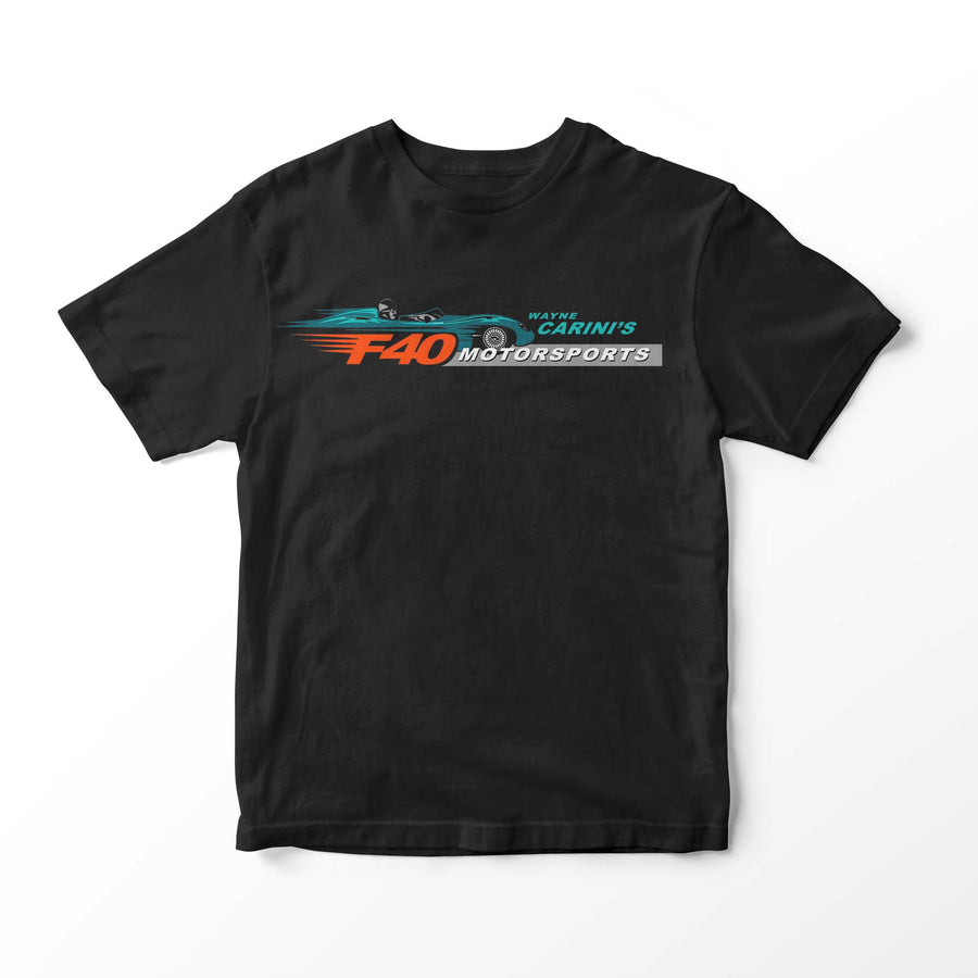 The Official Wayne Carini F40 Motorsports Short Sleeve T-Shirt, Legacy edition