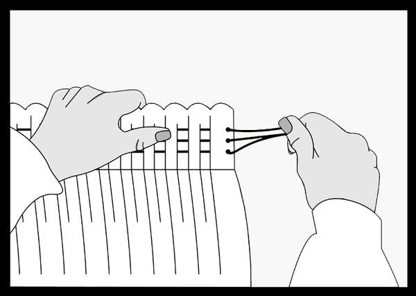 How to hang pencil pleat curtains