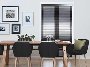 Black Cedar Wooden Venetian Blinds 60mm Slat