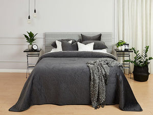 Heirloom Charcoal Quilted Bedspread