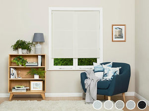 Harveys White Stone Sunscreen Roller Blinds
