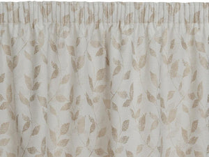 Leon Beige Pencil Pleat Curtains