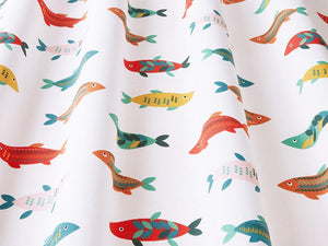 Mr Fish Poppy Fabric