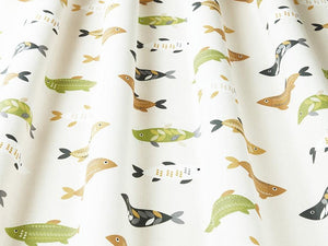 Mr Fish Saffron Fabric