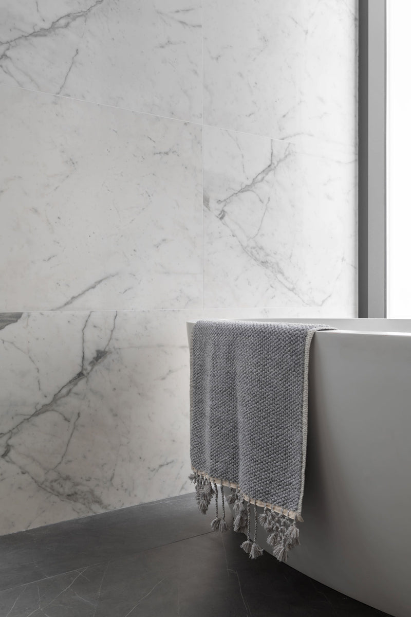 CRYSTAL GREY ARTISAN BATH TOWEL SET