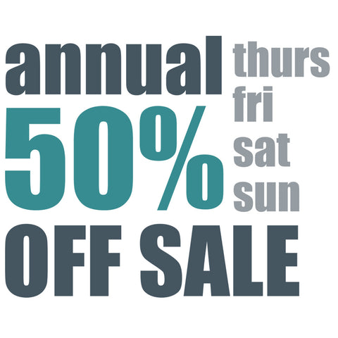 The Annual 50% Off EVERYTHING Sale