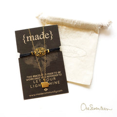 Gold Fill Iowa 'Home' Necklace