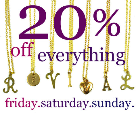 20% Everything Flash Sale