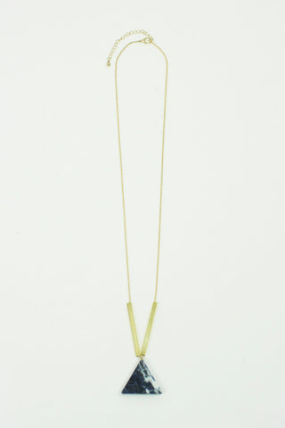 Fada NYC Blue Diamond Geometric Necklace