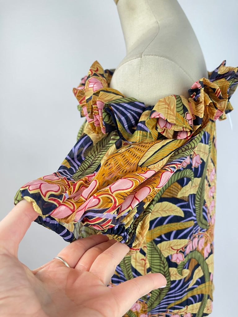 Topshop Striped Paperbag Pant (6/28)