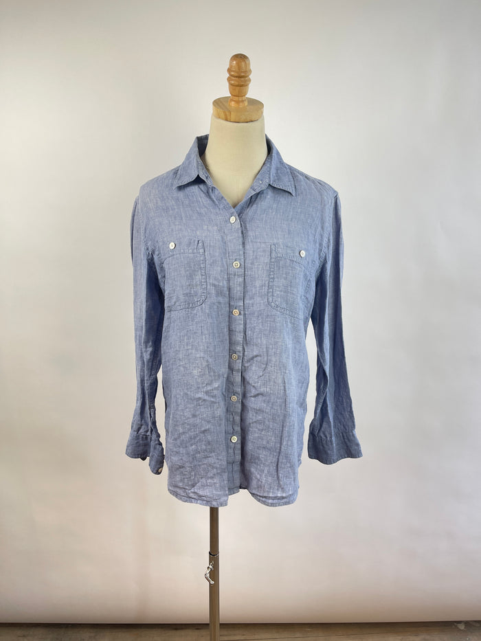 J Jill Grey Wool Blend Sweater Vest (S)