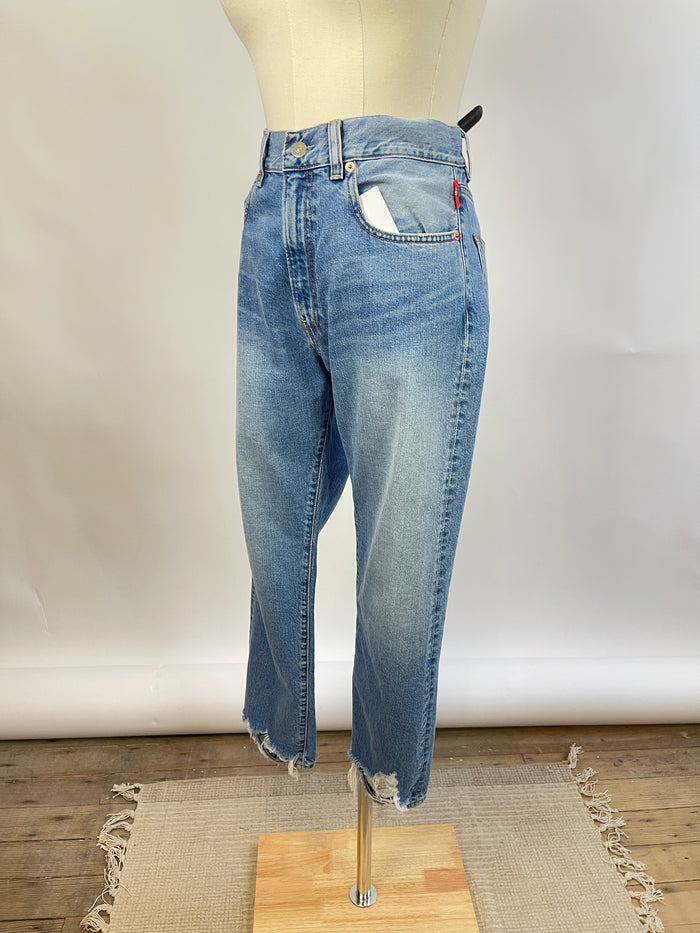 LACAUSA Cotton Pop-Over Blouse (XS)