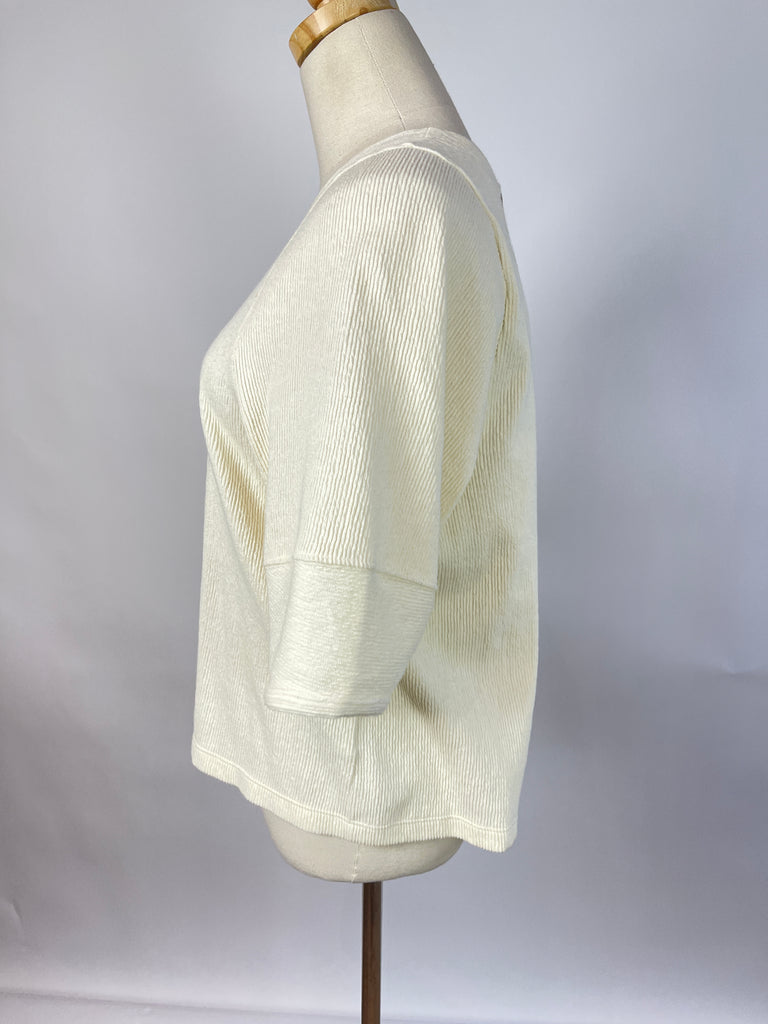 Vintage Tan Cord High Rise Straight Leg Trouser (26)