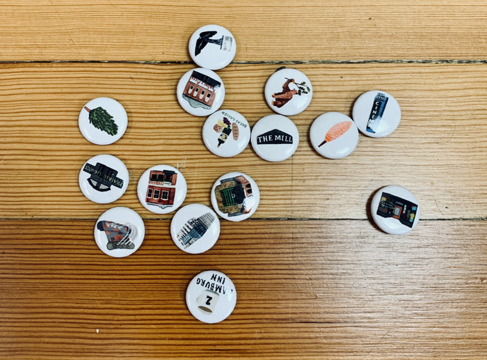 Iowa City Button Collection: 3 for $7