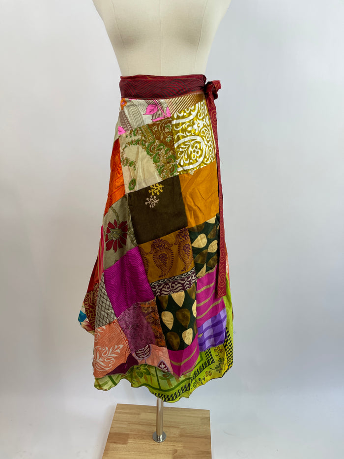 Sandro Pink & White High Neck Blouse (S)