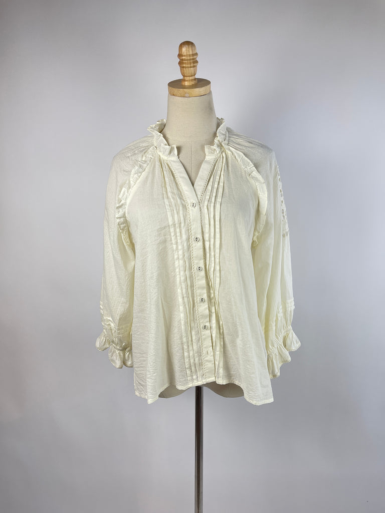 Talbots Cream Cable Knit Cardigan (XL)