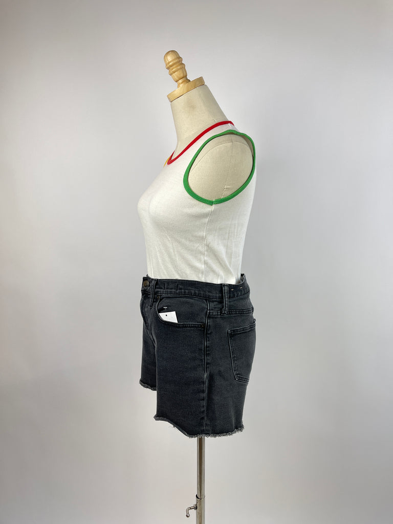 Striped Open Front Cardigan (S)