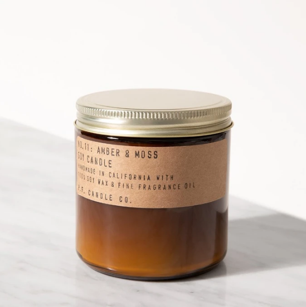P.F. Candle Co. 12.5oz Large Soy Candle | Amber & Moss