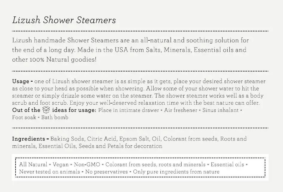 Shower Steamer (4 Scents)